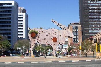 Statue of an Eland in Braamfontein, Johannesburg