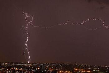 Lightning at night, Johannesburg, Gauteng